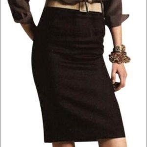 J. Crew 100% wool black pencil skirt